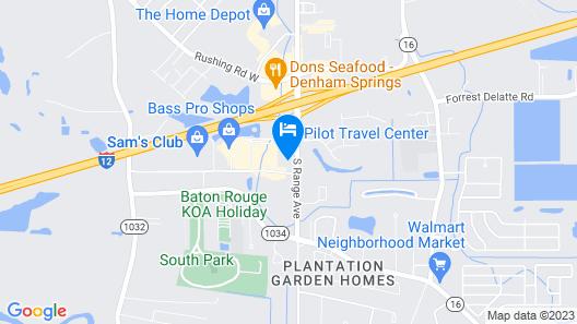 Highland Inn Denham Springs - Baton Rouge East Map