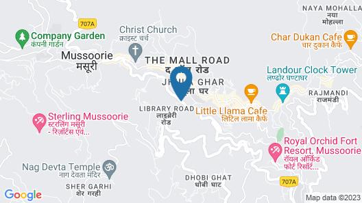 Hotel Madhuban Highlands Map