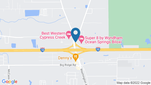 Super 8 by Wyndham Ocean Springs Biloxi Map