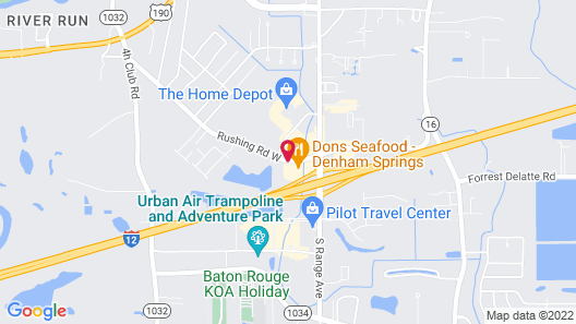 MainStay Suites Denham Springs - Baton Rouge East Map