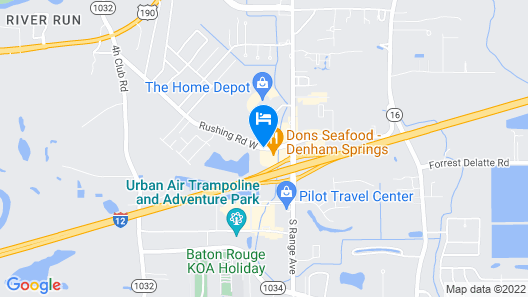 Candlewood Suites Denham Springs Map