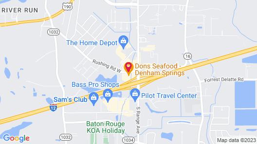 Hampton Inn Baton Rouge - Denham Springs Map