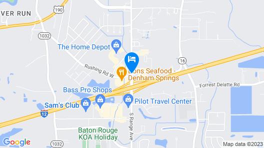 Americas Best Value Inn Denham Springs Baton Rouge Map