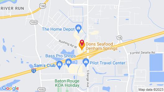 OYO Hotel Denham Springs I-12 Map
