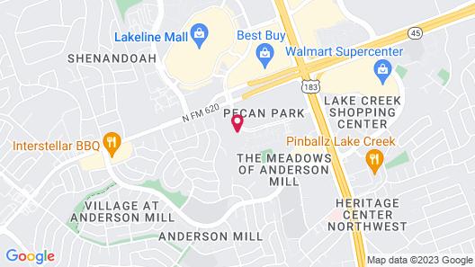 Candlewood Suites Austin NW - Lakeline Map