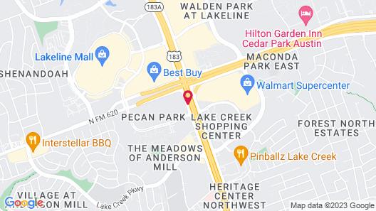 Extended Stay America Austin - Northwest - Lakeline Mall Map