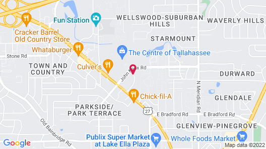 Suburban Extended Stay Hotel Tallahassee near University Map