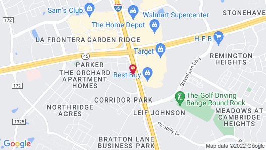 Extended Stay America Suites Austin Round Rock South Map