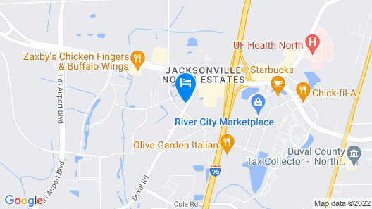 Hyatt Place Jacksonville Airport Map