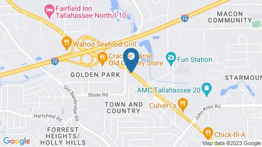 Motel 6 Tallahassee, FL Map