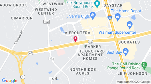 Home2 Suites by Hilton Austin Round Rock Map