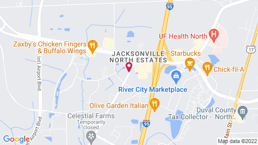 Jacksonville Plaza Hotel & Suites Airport Map