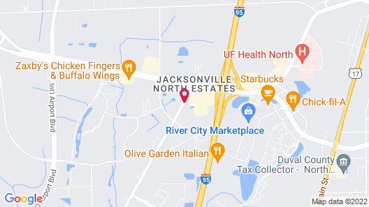 Courtyard by Marriott Jacksonville Airport Map