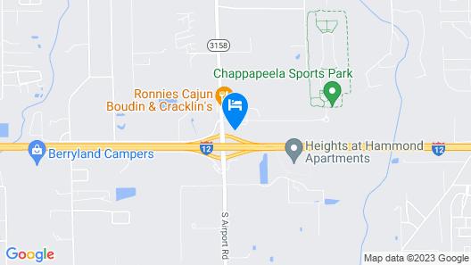 Stay Express Inn Hammond Map