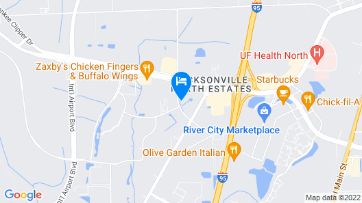 Home2 Suites by Hilton Jacksonville Airport Map