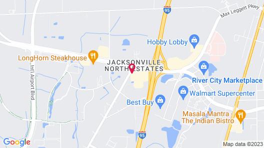 Crowne Plaza Hotel Jacksonville Airport/I-95N, an IHG Hotel Map