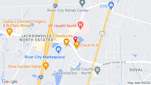 Aloft Jacksonville Airport Map