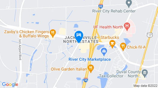Crowne Plaza Hotel Jacksonville Airport/I-95N Map