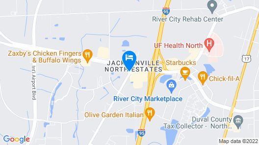 Days Inn by Wyndham Jacksonville Airport Map