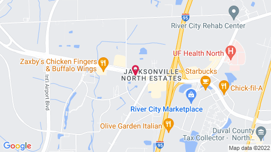 Holiday Inn Express & Suites Jacksonville Airport, an IHG Hotel Map