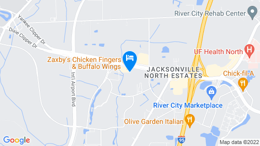 SpringHill Suites by Marriott Jacksonville Airport Map