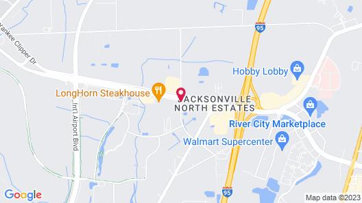 Hilton Garden Inn Jacksonville Airport Map