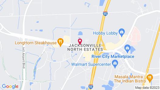 Econo Lodge Jacksonville Map