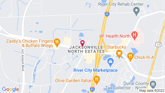 Travelodge Inn & Suites by Wyndham Jacksonville Airport Map
