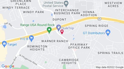 Microtel Inn & Suites by Wyndham Round Rock Map
