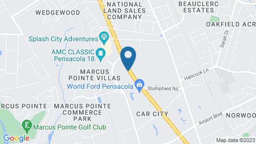 Days INN Pensacola FL Map