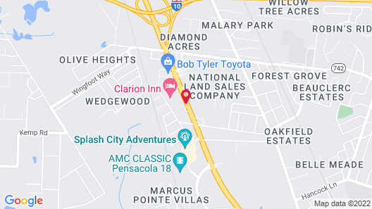 OYO Hotel Pensacola I-10 & Hwy 29 Map