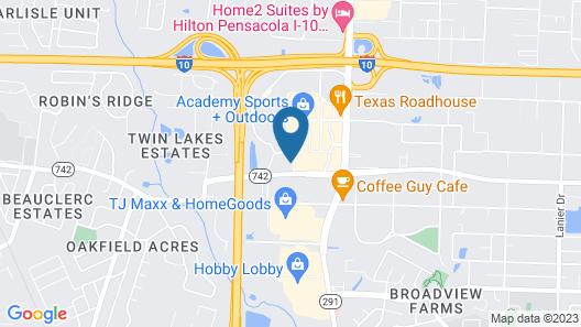 Hampton Inn & Suites Pensacola I-10 N at Univ. Twn Plaza, FL Map
