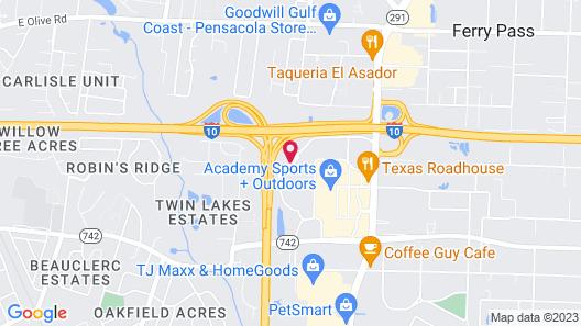 Super 6 Inn & Suites Map