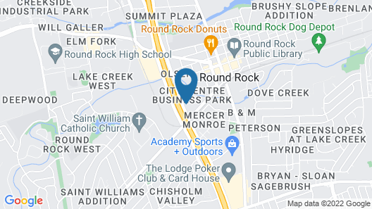Extended Stay America Suites Austin Round Rock North Map