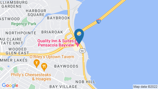 Quality Inn & Suites Pensacola Bayview Map