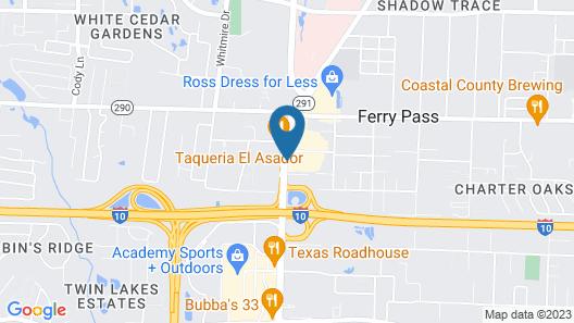 Comfort Inn Pensacola - University Area Map