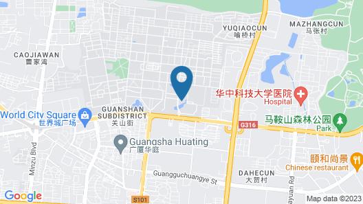Hyatt Regency Wuhan Optics Valley Map