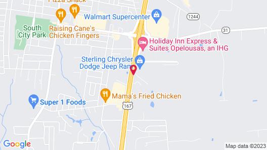 Quality Inn Opelousas Map