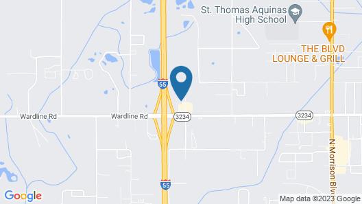 Red Roof Inn PLUS+ Hammond Map
