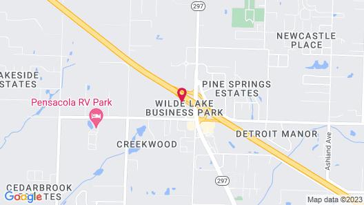 Hampton Inn & Suites - Pensacola/I-10 Pine Forest Road, FL Map