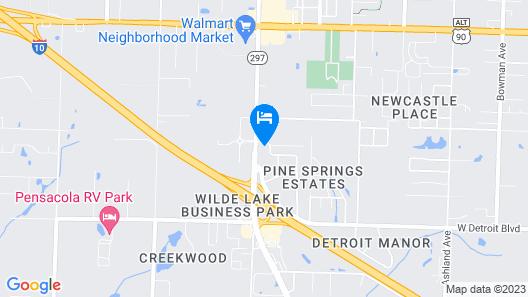 Quality Inn Pensacola West I-10 Map