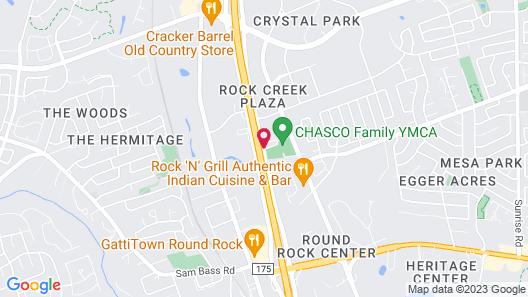 BEST WESTERN- ROUND ROCK Map