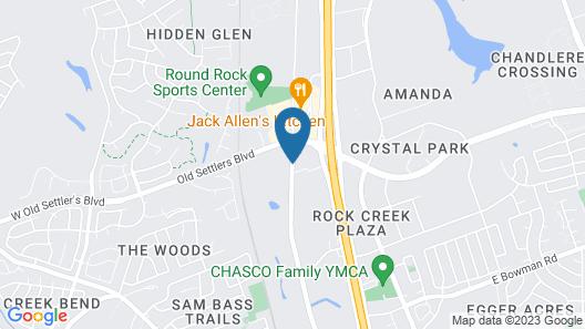 Holiday Inn Austin North Round Rock Map