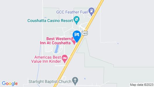 Best Western Inn At Coushatta Map