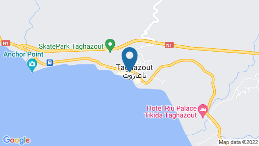 White Beach Resort Taghazout  - All Inclusive - Adults Only Map