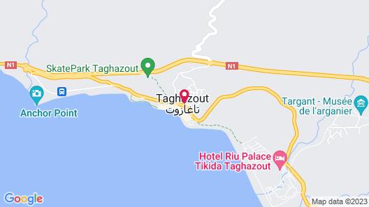 Le Spot Surf Camp Map