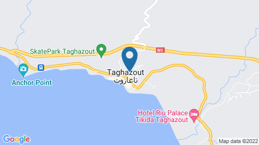 Nice Apartment in the Center of Taghazout Agadir Map