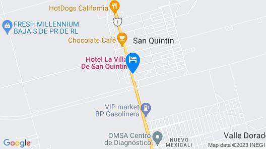 Hotel La Villa de San Quintin Map