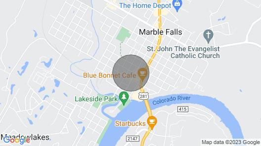Downtown Luxury Marble Falls Boutique Property: Austin Suite Map