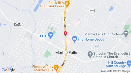 Best Western Marble Falls Inn Map